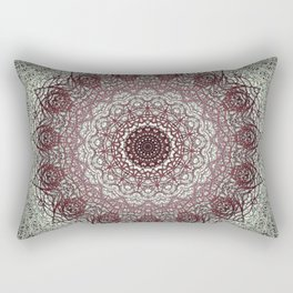 Antique Lace Mandala Rectangular Pillow
