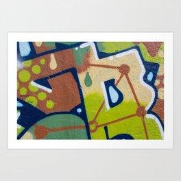 graffiti painting closeup - graffiti artwork Art Print