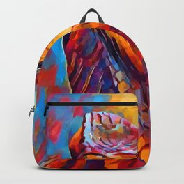 Chameleon Watercolor Backpack