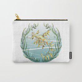 Leafy Seadragon in Gold Carry-All Pouch
