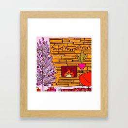 Modern Christmas Framed Art Print