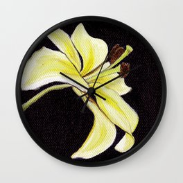 Small Lily Wall Clock