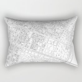 Abstract Map of New York City Manhattan Lower East Side Rectangular Pillow