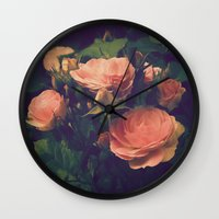 antique Wall Clocks featuring Antique Rose by A Wandering Soul
