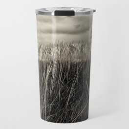 Beach Grass in Black & White Travel Mug