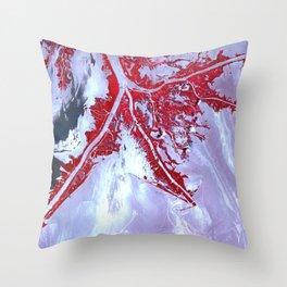 Blood string Throw Pillow