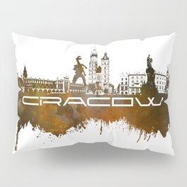 Cracow skyline city brown #cracow #skyline Pillow Sham
