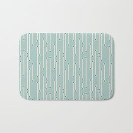 Dotted lines in cream, teal and sea foam Bath Mat