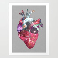 Superstar Heart (on grey) Art Print
