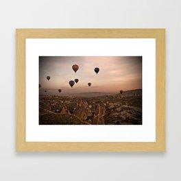 Balloons in Cappadoccia Framed Art Print