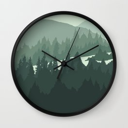 North by Pacific Northwest Wall Clock