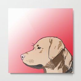 labrador sunset Metal Print