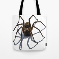 spider Tote Bags featuring SPIDER by aztosaha