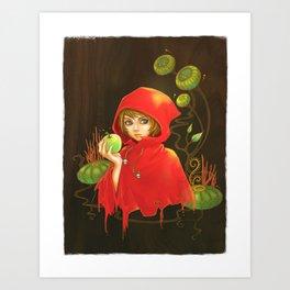 Poison Apple & A Little Red Hood Art Print