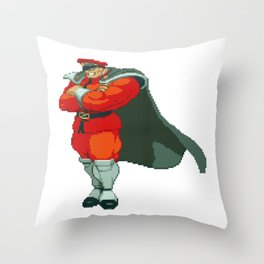 M. Bison (AKA Vega) Pixel Art Throw Pillow