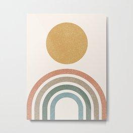 Mid-Century Modern Rainbow Metal Print