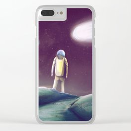 Observing The Energy Comet Clear iPhone Case