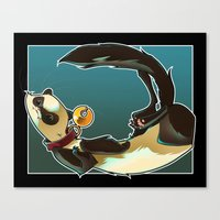 ferret Canvas Prints featuring Ferret by Ana del Valle Store