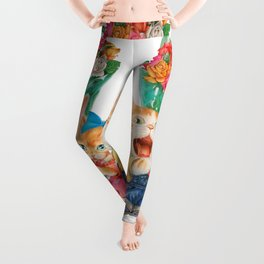 Present a bunch of roses Leggings