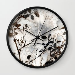 Desaturated Jungle Botanical Art Wall Clock