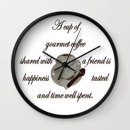 A Cup Of Gourmet Coffee Shared With A Friend Wall Clock