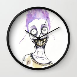 The purple maniac Wall Clock