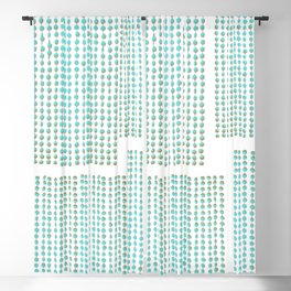Peppermint Candy Strings Pop-Art Blackout Curtain