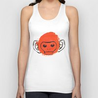 monkey island Tank Tops featuring Monkey by James White