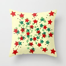 5 Colors Composition (#2) Throw Pillow
