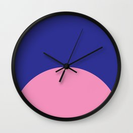 Blue Rising Wall Clock