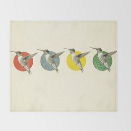 The Hummingbird Dance Throw Blanket