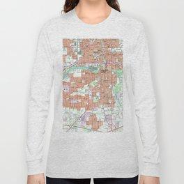 Vintage Map of Lansing Michigan (1965) Long Sleeve T-shirt
