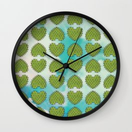 Cactus in the Heart Wall Clock
