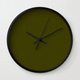Textured dark olive. Wall Clock
