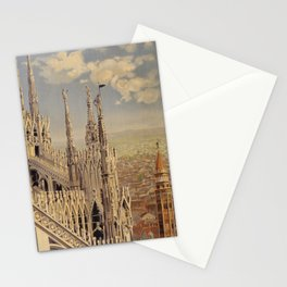 Vintage Travel Poster - Milano - Vintage Italy Travel Poster Stationery Cards