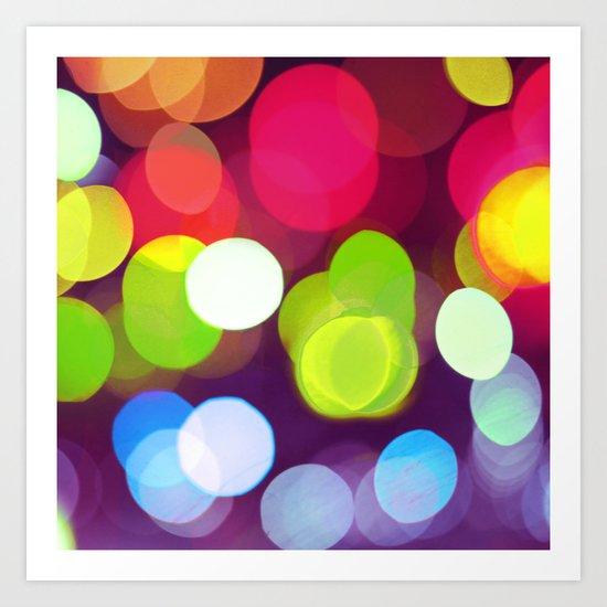 Light Dots Art Print