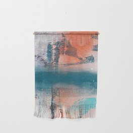 Poetry [1]: a vibrant abstract mixed-media painting in teal and pink by Alyssa Hamilton Art Wall Hanging