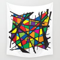 stained glass Wall Tapestries featuring Stained Glass by preview