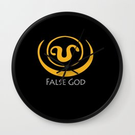 False God. Inspired by Stargate SG1 - The symbol of Apophis as worn by Teal'c Wall Clock