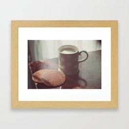 Matcha & waffles (1) Framed Art Print