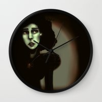 witchcraft Wall Clocks featuring Wise in Witchcraft by Ben Geiger