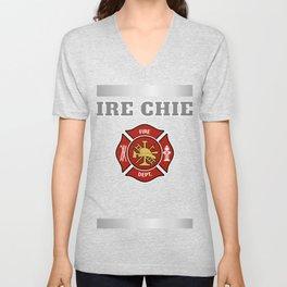 Firefighter Uniform product, Bunker Gear print, Costume Tee Unisex V-Neck