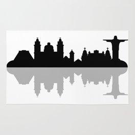 skyline of rio de janeiro Rug