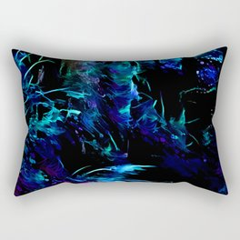 Blacklight Dreams of the Forest Rectangular Pillow