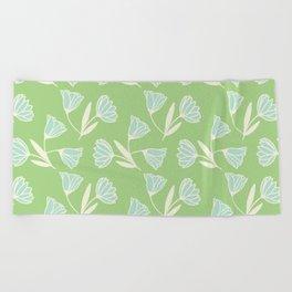 Flowers and wind Beach Towel