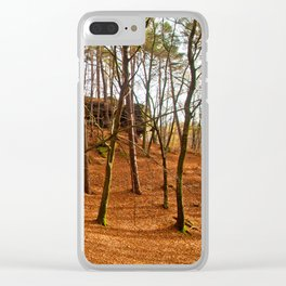 Tangerine forest Clear iPhone Case