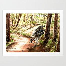 Aguila culebrera Art Print