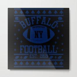 Buffalo Football Fan Gift Present Idea Metal Print