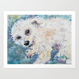 Henry Poodle Art Print
