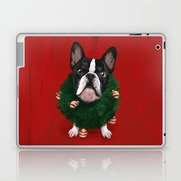 Christmas Bulldog Laptop & iPad Skin